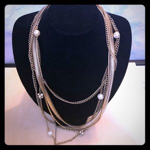 Express multi grand gold chain necklace